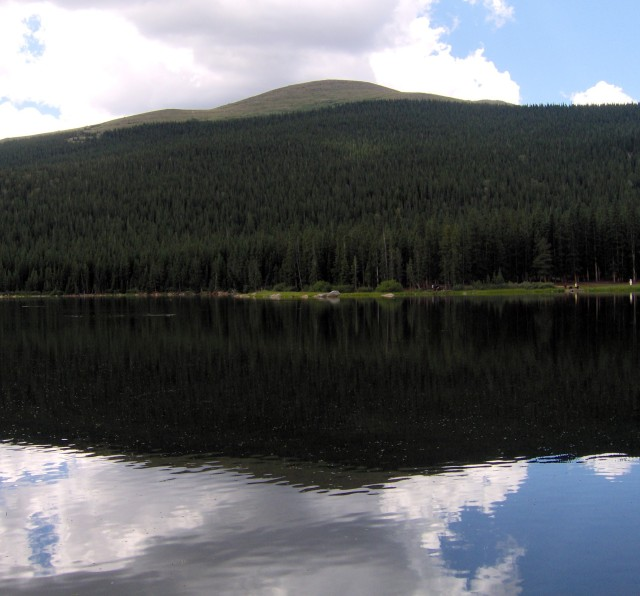 Lake in the hills of Colorado.