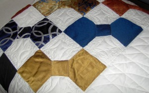 bow tie quilt drapped
