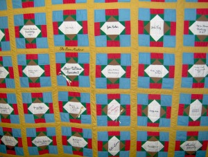 Quilt made by the Piece Makers Quilt Guild of Eufaula Oklahoma.