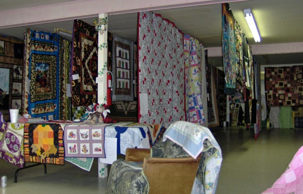 A few of the 103 quilt items on display