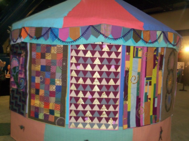 A quilted Yurt