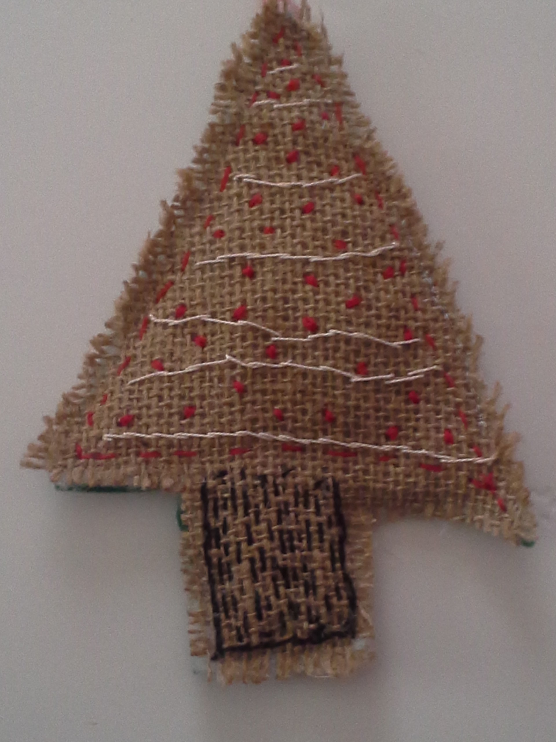 Burlap Tree Ornament   Nita Beshear – A Patchwork Life